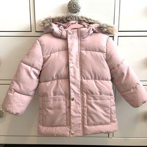 Pink Puffer Jacket 12-18m